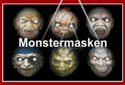 Monstermasken 6er Pack